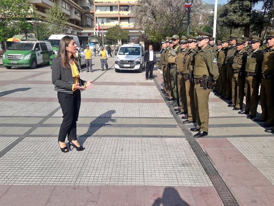 Gobernadora de Cachapoal encabezó la 7ma ronda de patrullaje preventivo de Carabineros