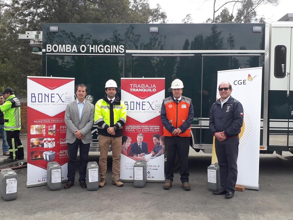 Bomberos recibe innovador producto para el combate de incendios