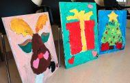Niños pintan para niños: un regalo para pacientes del Hospital Regional