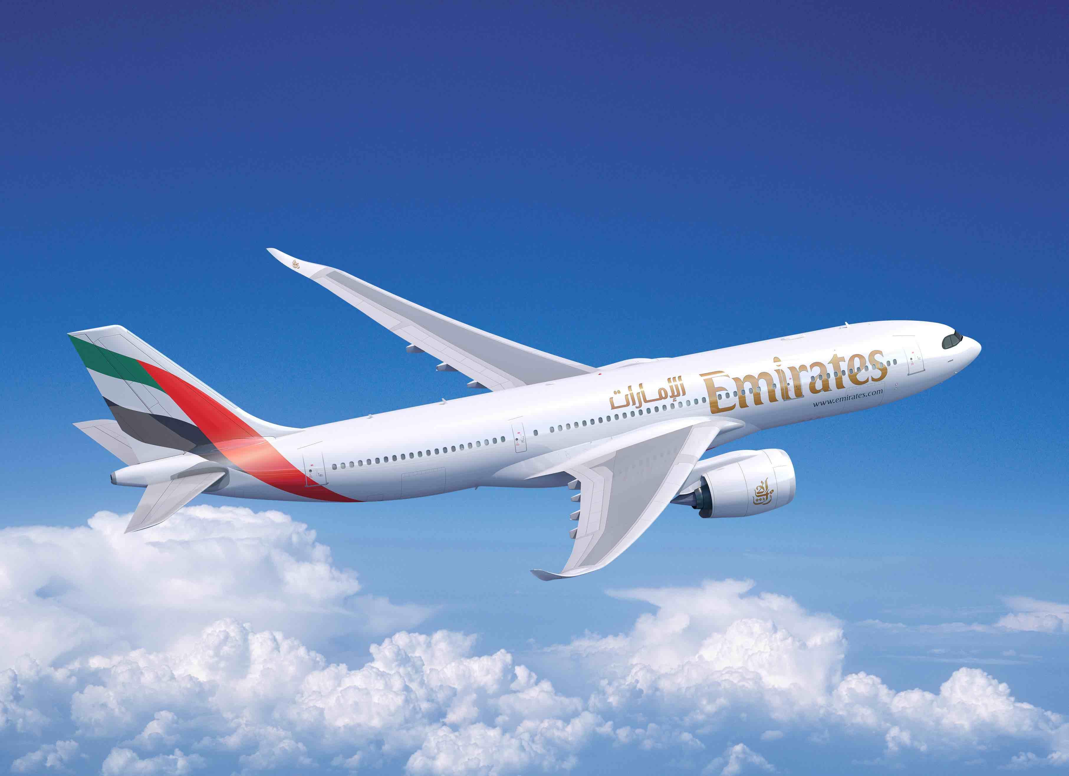 Emirates sigue sumando aviones a su flota con  40 Airbus A330-900s y 30 Airbus A350-900s