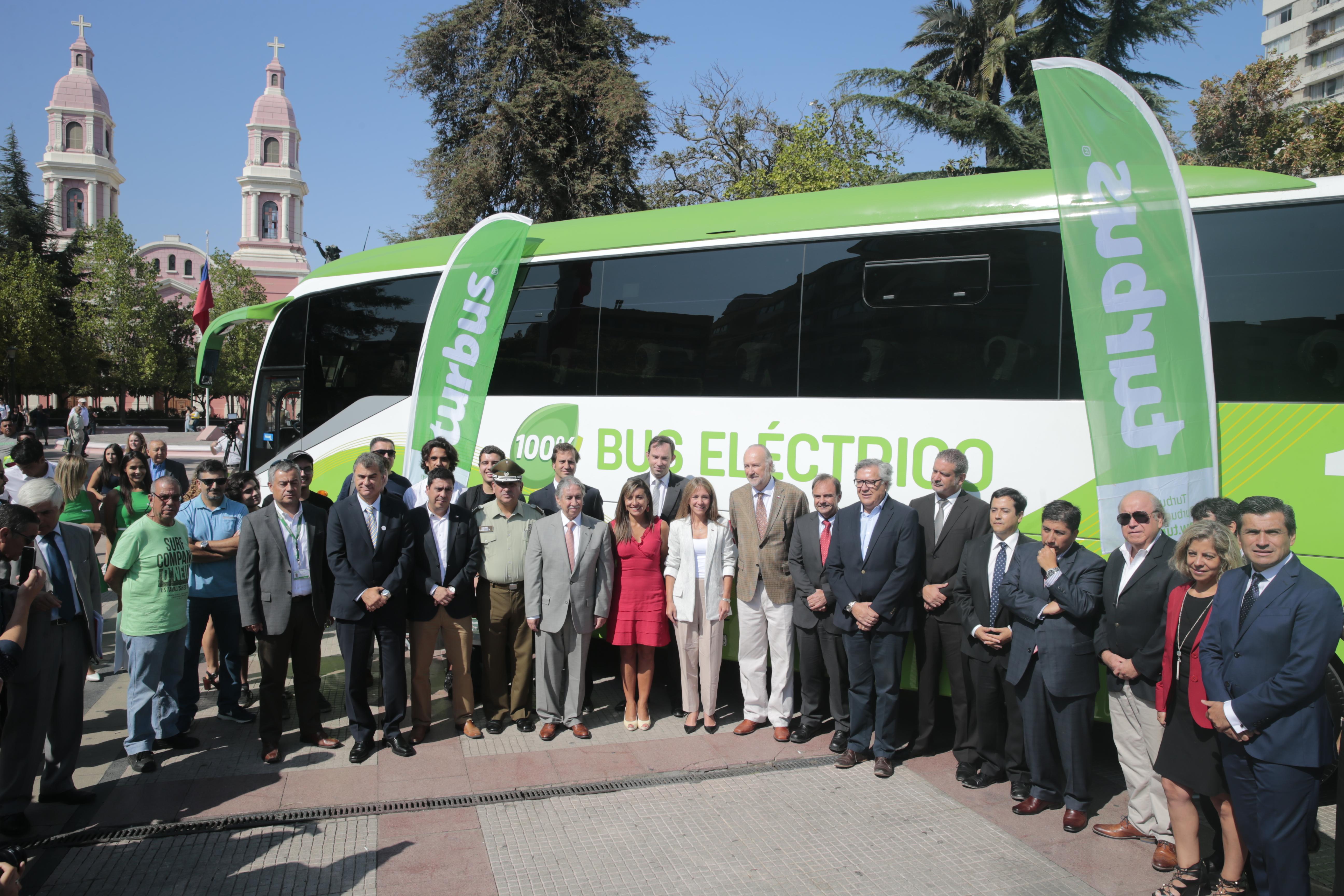 Llega a Rancagua el primer bus eléctrico de servicio de transporte interurbano de pasajeros