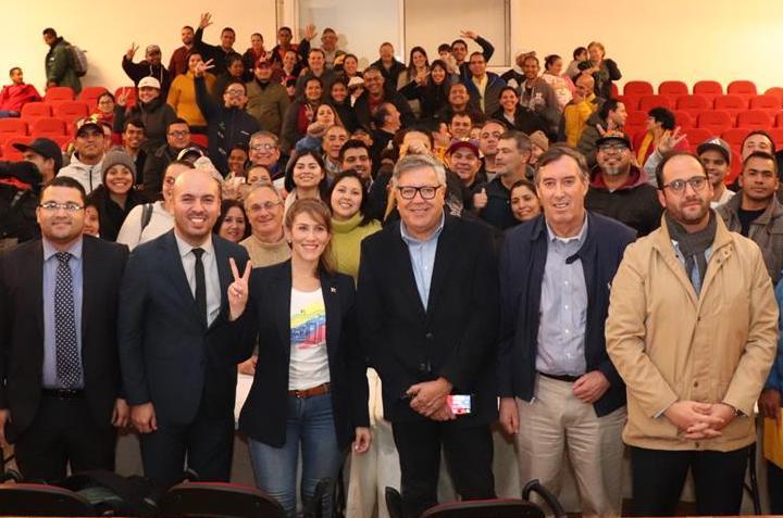 Representante diplomática de Venezuela Guarequena Gutiérrez visitó Rancagua