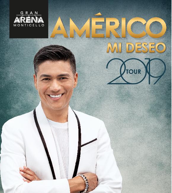 Américo confirma show en Gran Arena Monticello