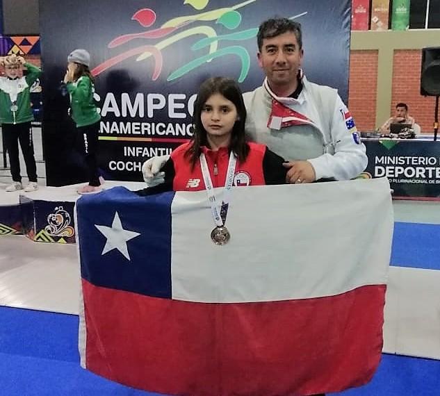 ¡Lo hizo otra vez! Joven esgrimista obtiene medalla de bronce Bolivia