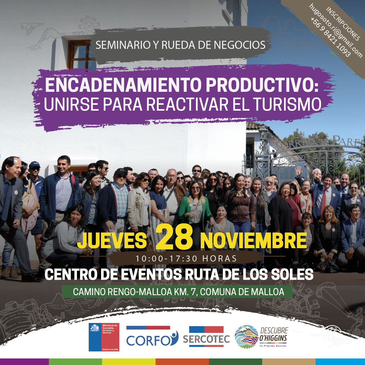 """Sercotec y Corfo realizan Seminario y Rueda de Negocios """"Encadenamiento productivo: Unirse para reactivar el turismo"""""""
