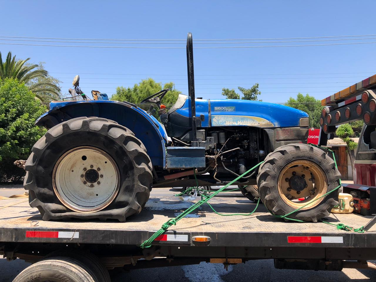 PDI recupera tractor robado en comuna de Paine