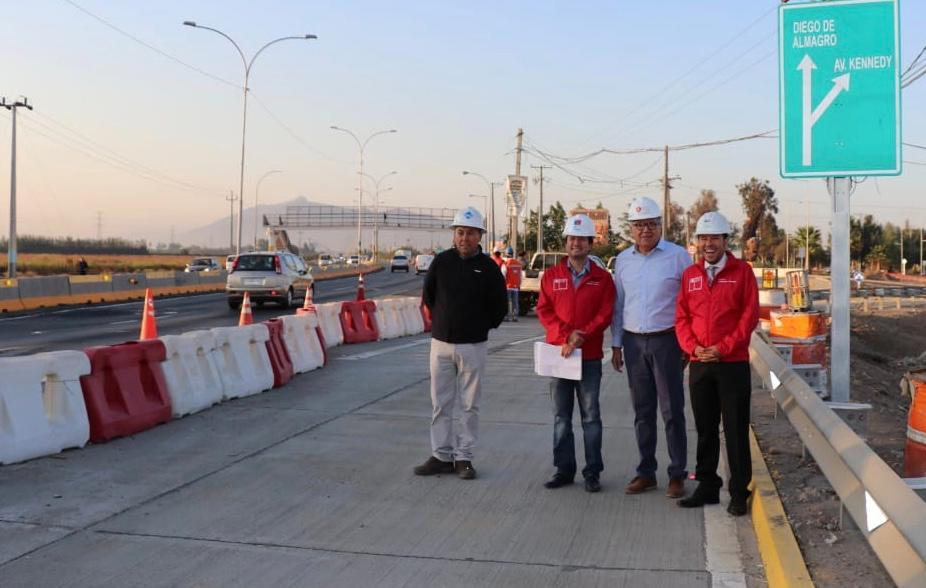 Autoridades realizan apertura de entrada norte a Rancagua