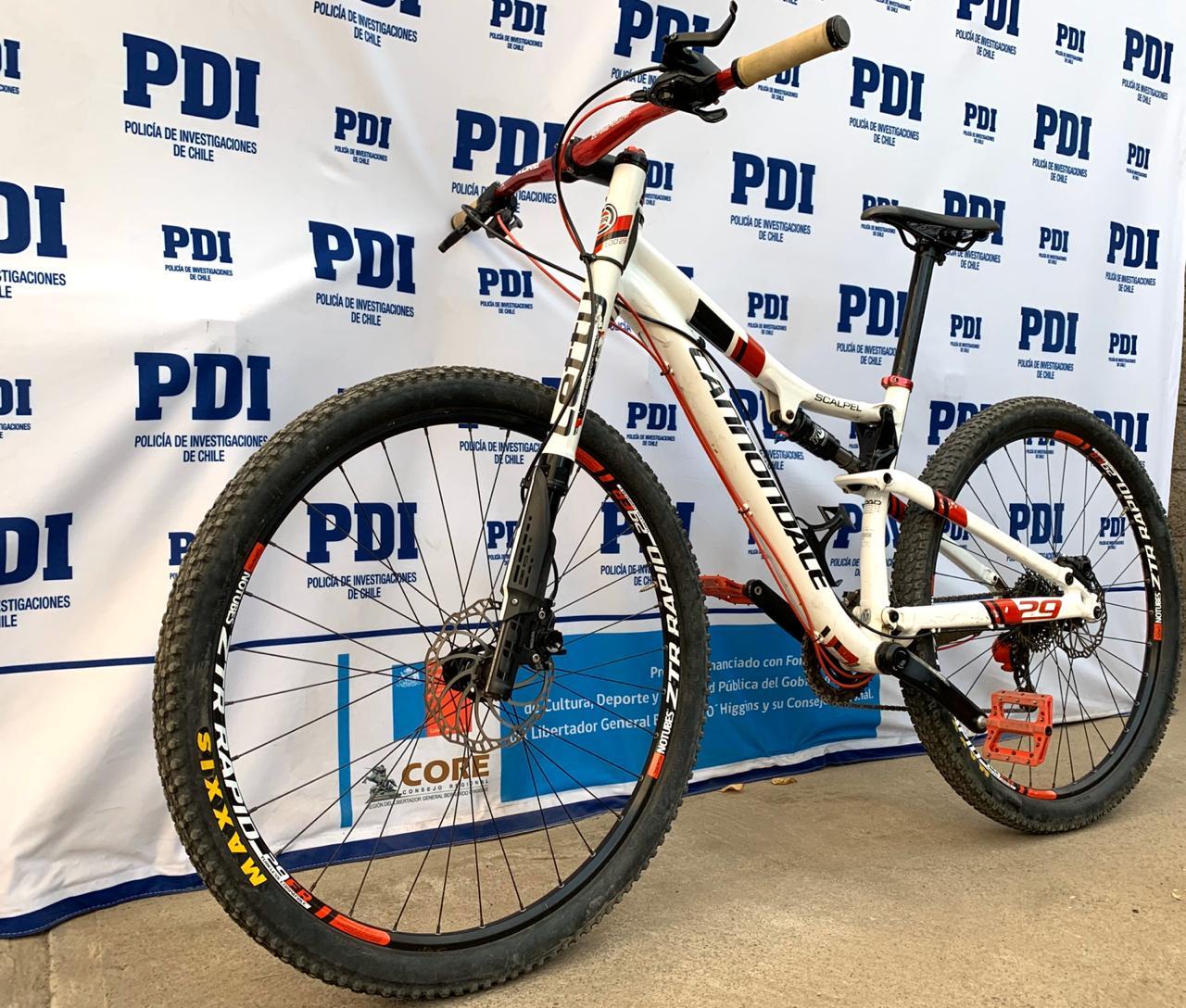 PDI recupera bicicleta de alta gama robada en Buin