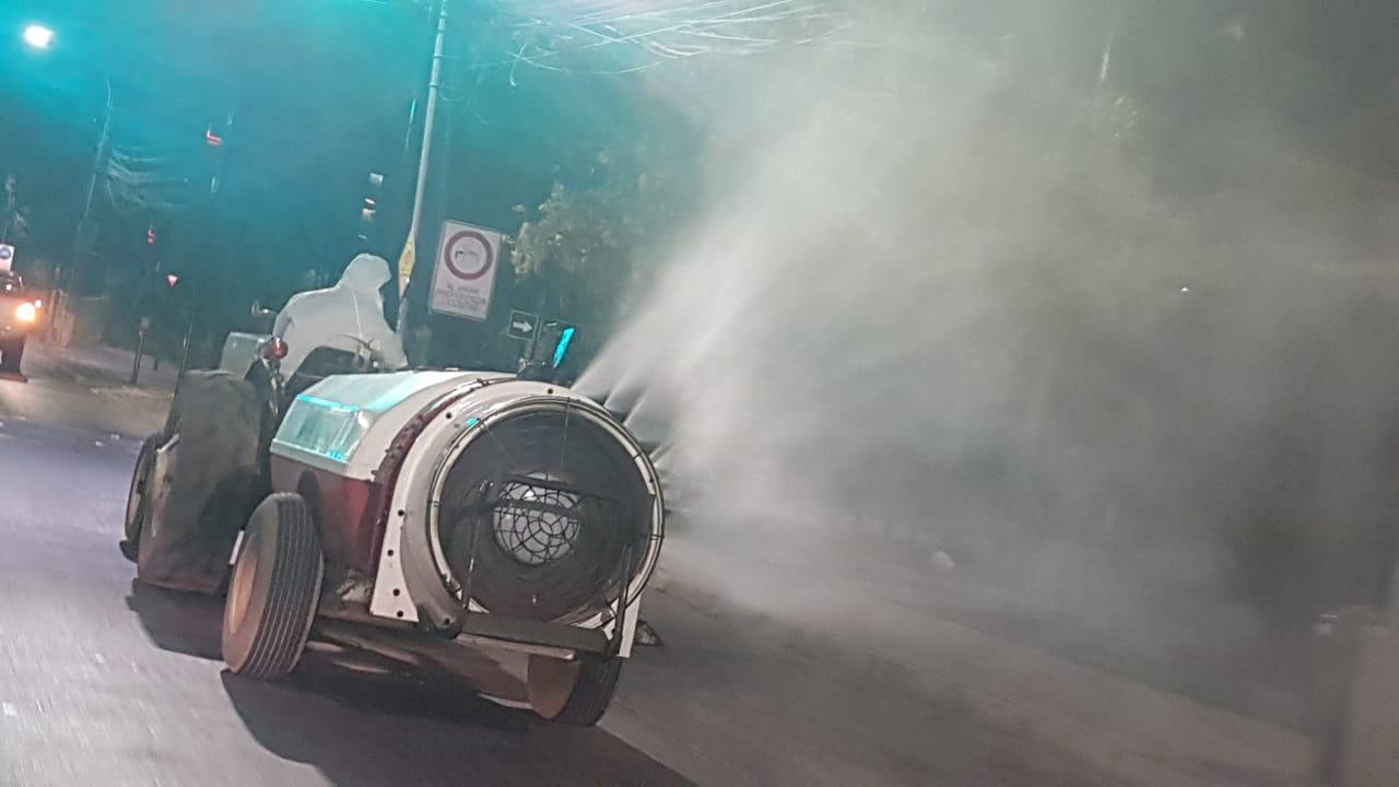 Sanitización masiva se realiza en conjunto con Municipalidad de Rancagua y agricultores locales