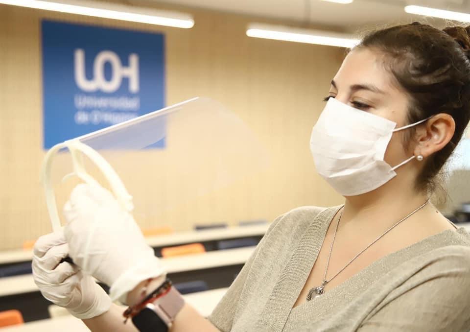 UOH y O´Higgins CREA entregarán 4.500 protectores faciales  a Red Hospitalaria Regional