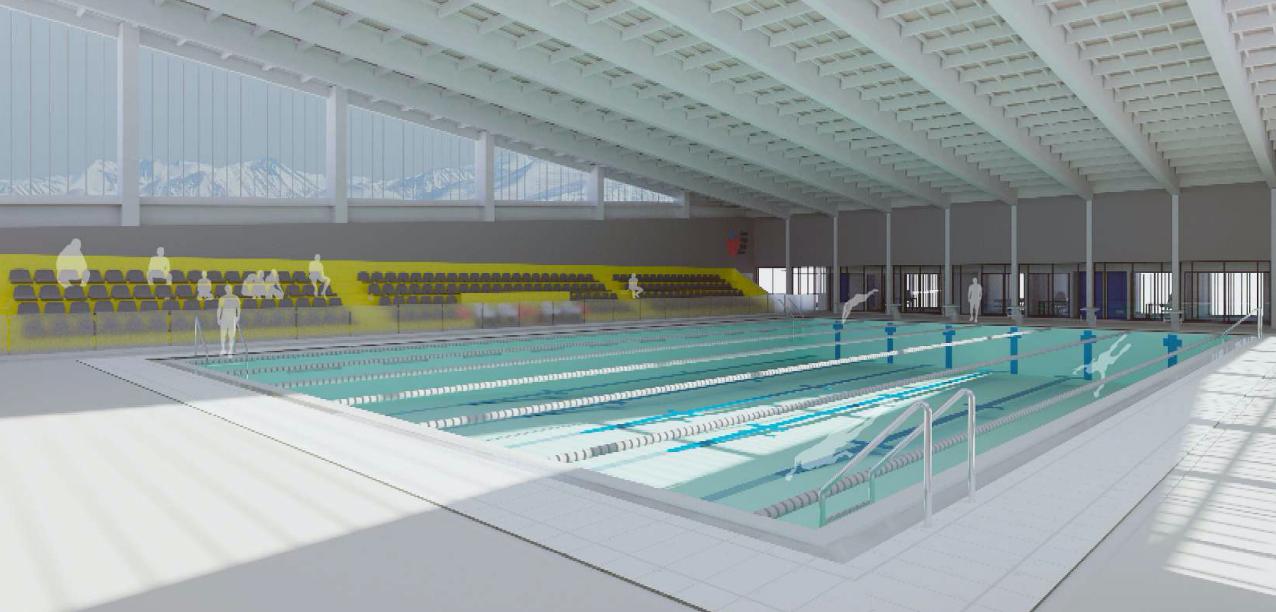 Autoridades anuncian inicio de obras de Centro deportivo que alojará piscina temperada para Rancagua