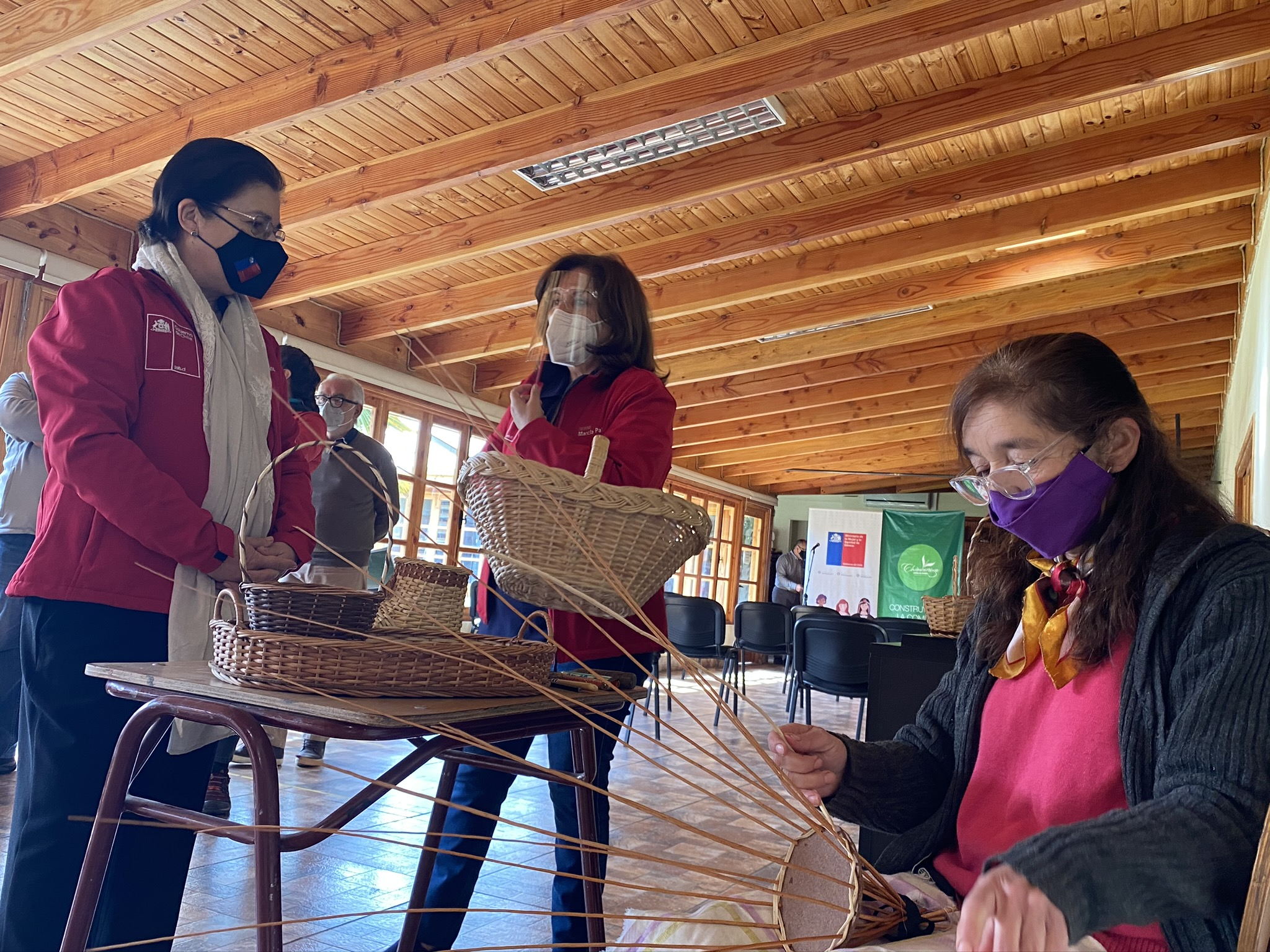 Seremis de la Mujer y Cultura reconocen a artesanas de Chimbarongo