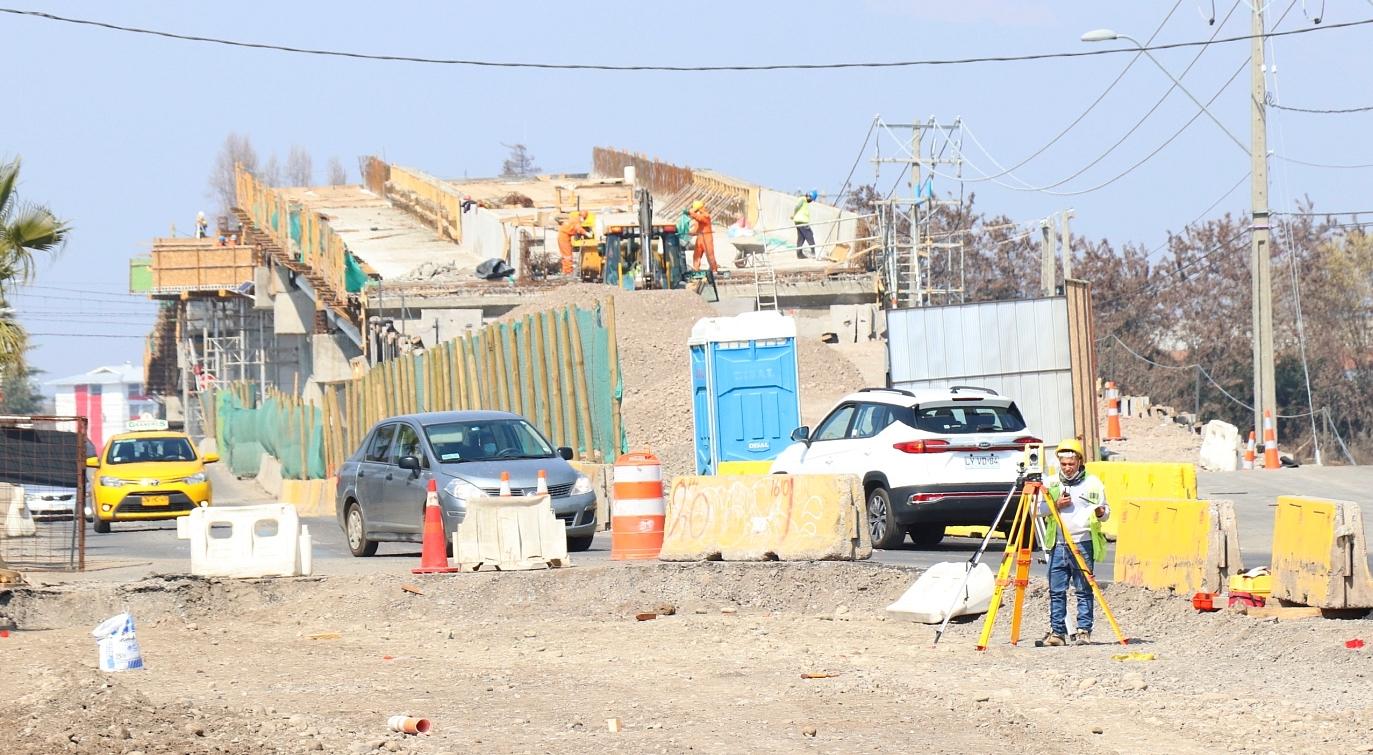 Realizan visita inspectiva a Paso Vehicular Desnivelado Las Coloradas de Rancagua