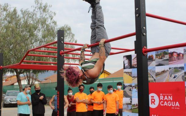Nuevo parque de Calistenia es inaugurado en Polideportivo Lourdes de Rancagua