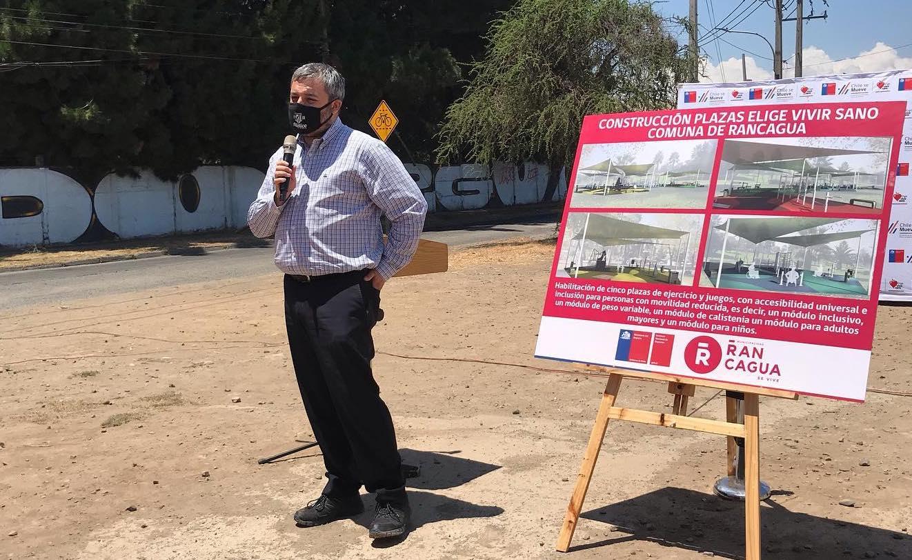 Rancagua: Autoridades anuncian la primera Plaza Elige Vivir Sano del país