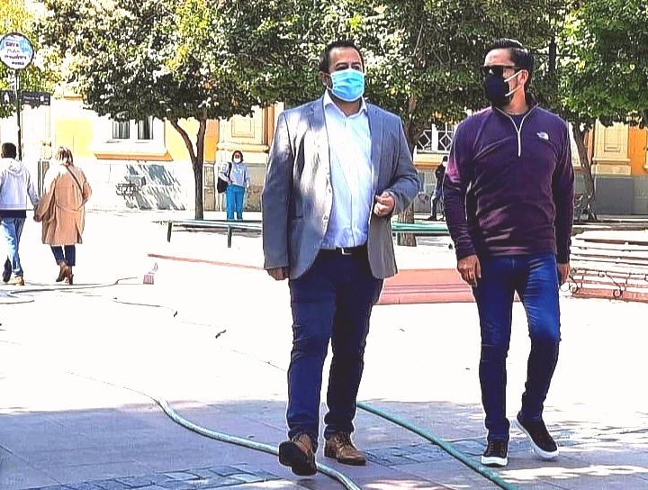 Manuel Polgatiz candidato a concejal por Rancagua se reúne con Gobernador de Cachapoal para analizar altos índices de delincuencia