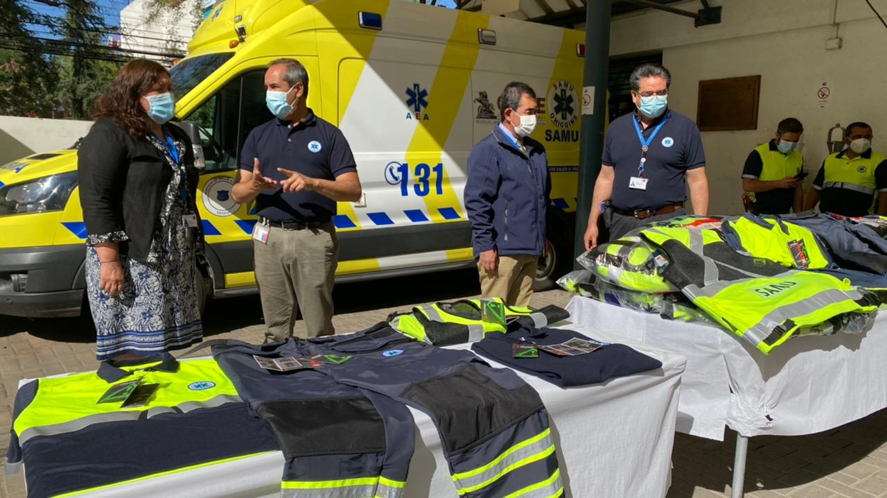 Servicio de Salud entregó millonaria inversión en indumentaria a SAMU O'Higgins