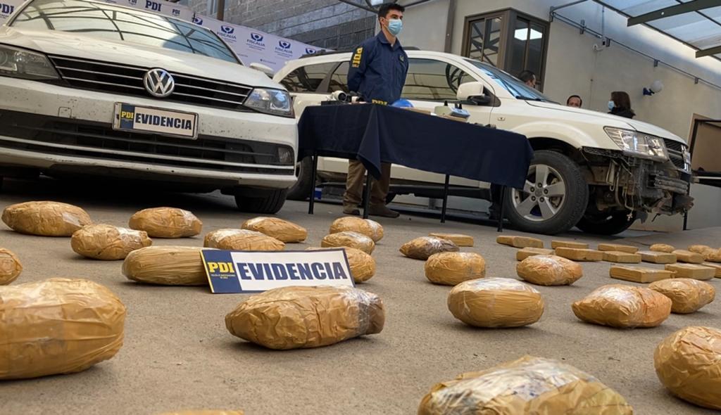 PDI incautó cocaína avaluada en más de 3.700 millones de pesos