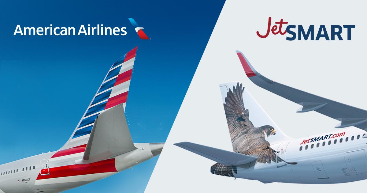 AMERICAN AIRLINES Y JETSMART se unen para crear la red más amplia de la Américas