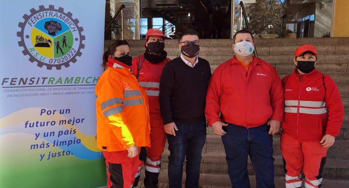 Alcalde Juan Ramón Godoy destaca aumento de sueldos en trabajadores recolectores de basura tras extensión de contrato