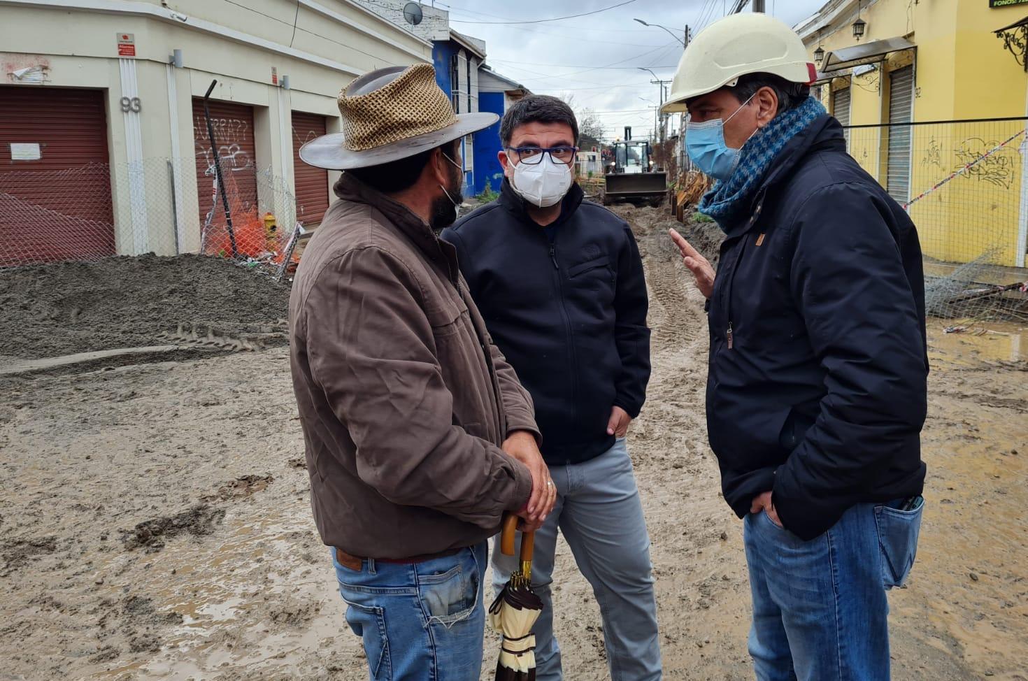 Alcalde Juan Ramón Godoy destaca que obras de mitigación en calle Estado permitirán reactivar el sector