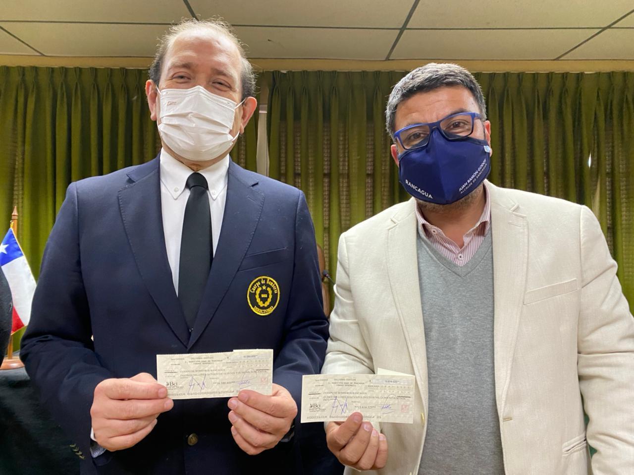 Alcalde de Rancagua y Concejo Municipal entregan importante subvención a Bomberos