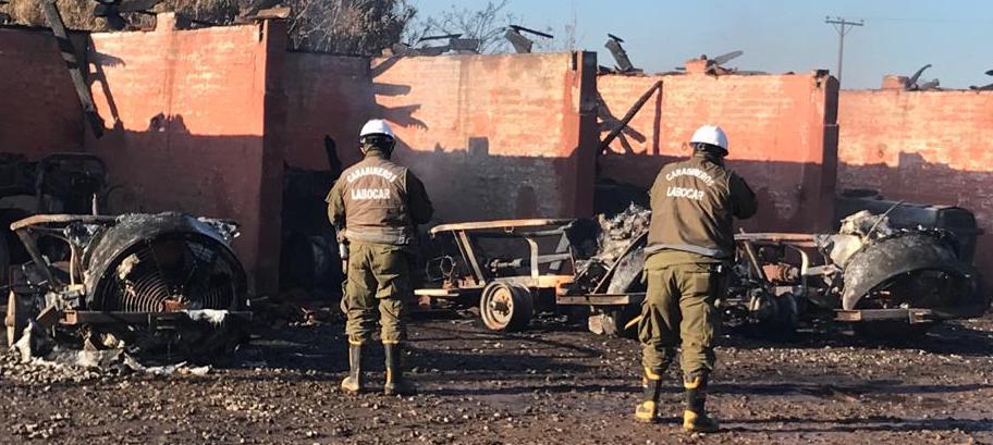Graneros: Carabineros investigan posible incendio intencional